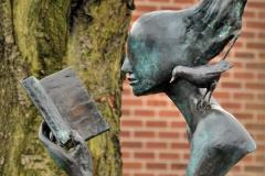Бібліотечна скульптура, Белфаст, Ірландія.