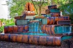 Пам'ятник Книзі у вигляді фонтану. м. Цінціннаті, США